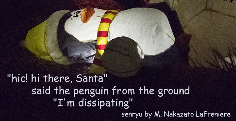 Senryu : The Penguin and Santa