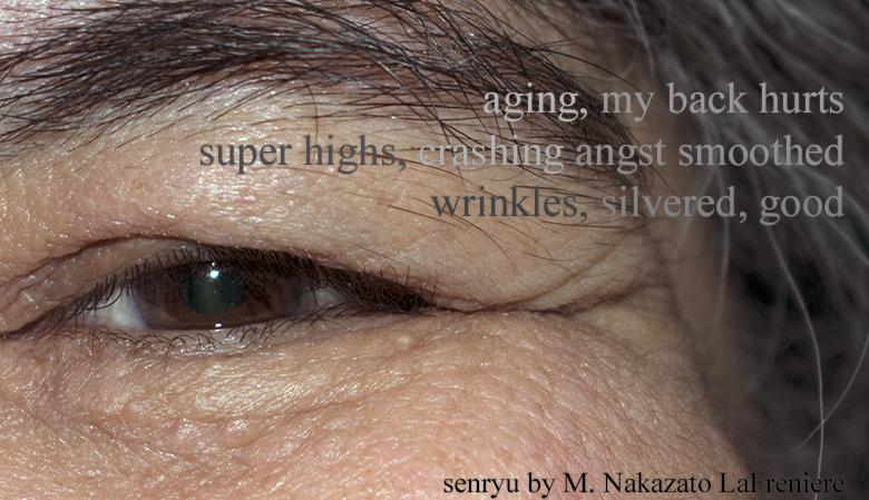 Senryu : aging wrinkles