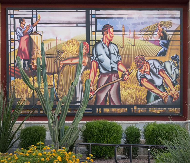 Brewhouse mural, Tucson, photo by M. LaFreniere, all rights reserved