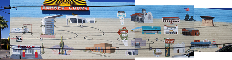 Route 84 mural, photo by M. LaFreniere, all rights reserved, CactusHaiku