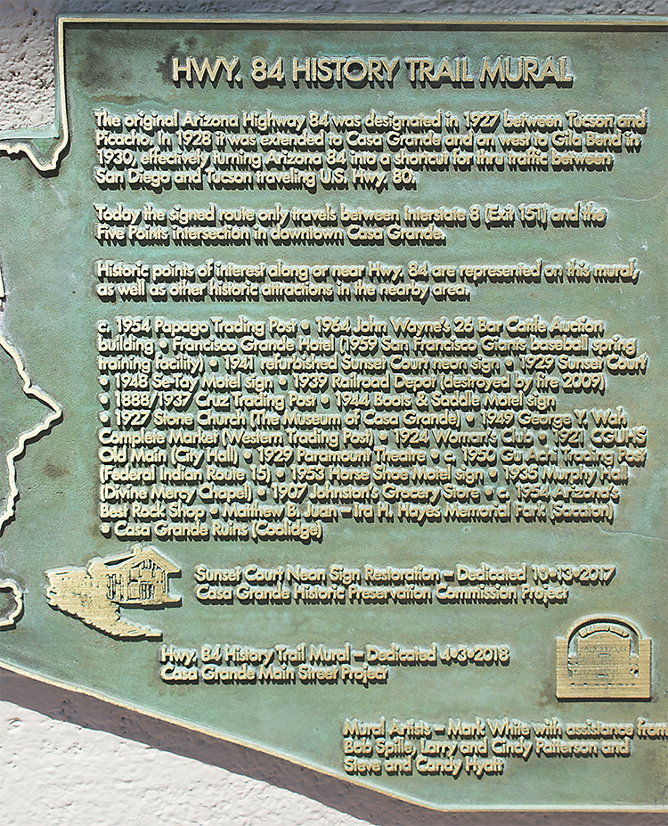 Route 84 plaque, photo by M. LaFreniere, all rights reserved, CactusHaiku