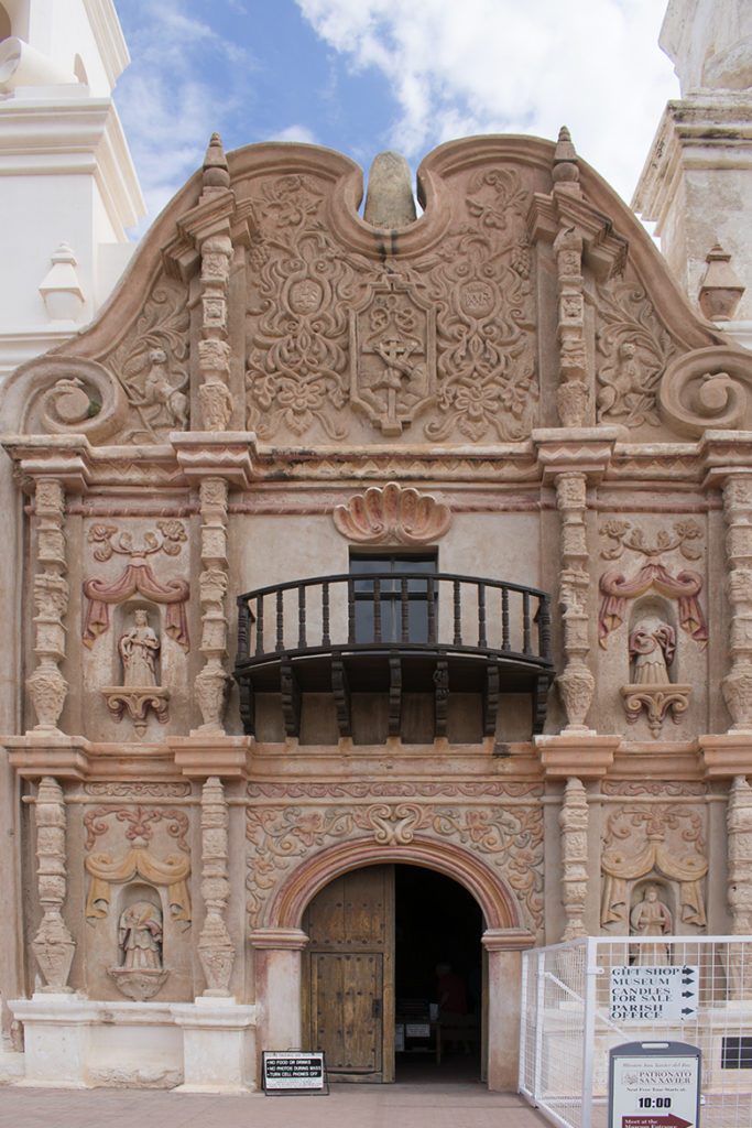 San Xavier carved front, photo by M. LaFreniere